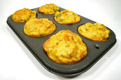 Freshly Baked Vegetable Muffins Royalty Free Stock Image