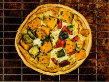 Freshly Baked Vegetable Quiche or Flan Stock Photos