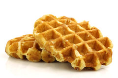 Freshly baked waffles Stock Photo