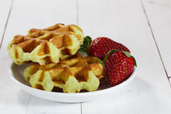 Freshly baked waffles Royalty Free Stock Photo