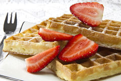 Freshly baked waffles Royalty Free Stock Image