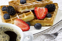 Freshly baked waffles Royalty Free Stock Photos