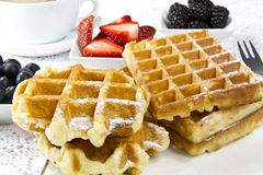 Freshly baked waffles Stock Images