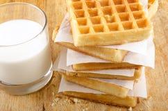 Freshly baked waffles Royalty Free Stock Photography