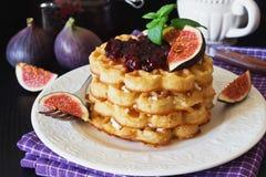 Freshly baked waffles Royalty Free Stock Photo