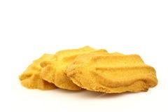 Freshly baked wave shaped cookies Stock Image