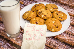 Freshly baked white chocolate and cranberry cookies. Royalty Free Stock Images