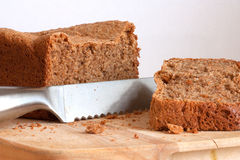 Freshly baked wholemeal bread Stock Photos