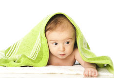 Freshly bathed baby Royalty Free Stock Photos