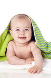 Freshly bathed baby Stock Images