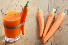 Freshly blended carrot juice Stock Image
