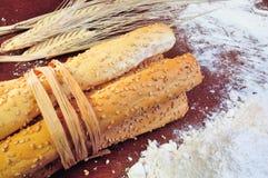 Freshly breadsticks Stock Images