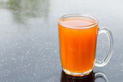 Freshly brewed black tea in glass mug, popularly known as Teh O in Malaysia.  Stock Images