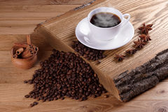 Freshly brewed coffe. Royalty Free Stock Photography