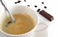 Freshly brewed coffee in a coffee cup Royalty Free Stock Photo