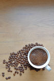 Freshly brewed coffee cup. Royalty Free Stock Photos