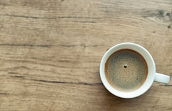 Freshly brewed coffee cup. Space for your text Royalty Free Stock Photos