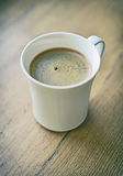 Freshly brewed coffee cup. Freshly brewed coffee cup on tabletop Stock Photos