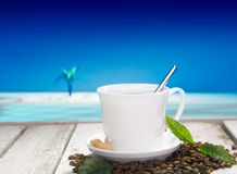 Freshly brewed cup of coffee Stock Image