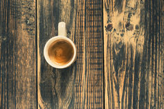 Freshly brewed cup of espresso coffee Royalty Free Stock Images