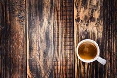 Freshly brewed cup of espresso coffee Stock Photos