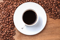 Freshly brewed espresso closeup Royalty Free Stock Photos