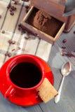 Freshly brewed ground coffee Stock Photography
