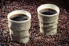 Freshly brewed retro coffee Royalty Free Stock Image
