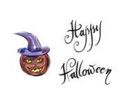 Freshly carved Jack-o-Lantern pumpkin Royalty Free Stock Image