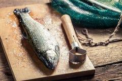 Freshly caught fish for dinner Stock Photos