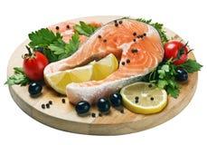 Freshly caught salmon steaks Stock Photo