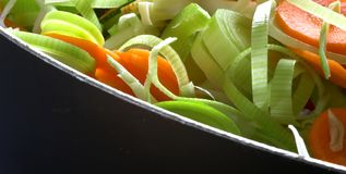 Freshly Chopped Vegetables royalty free stock image