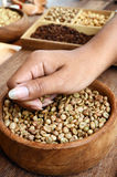 Freshly coffee beans in  bowl Stock Photos