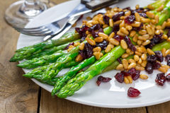 Freshly cooked asparagus appetizer Royalty Free Stock Photography