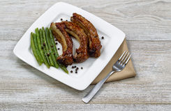 Freshly cooked BBQ Ribs Royalty Free Stock Photography
