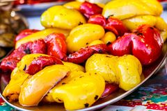 Free Freshly Cooked Grilled Vegetables, Tomatoes, Mushrooms, Eggplant Royalty Free Stock Images - 110742819