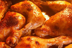 Freshly cooked at home chicken legs Royalty Free Stock Photos