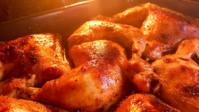 Freshly cooked at home chicken legs Stock Photography