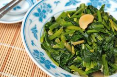 Freshly cooked leafy vegetables Stock Photography
