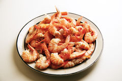 Freshly cooked prawns Royalty Free Stock Photography