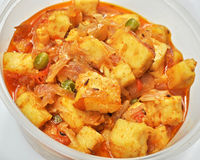 Freshly cooked spicy Paneer Stock Photography