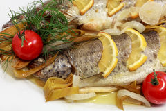 Freshly cooked trout Royalty Free Stock Image
