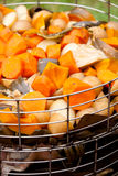 Freshly cooked vegetables in steamer Stock Photography