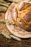 Freshly country bread from a healthy grains Royalty Free Stock Photos