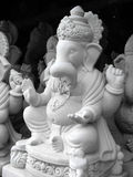 Freshly Crafted Idols. A view of freshly crafted Hindu lord Ganesha idols in a potters workshop, left for drying in sunlight to be painted later for a stock image