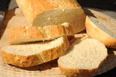 Freshly cut Bread. Photograph of freshly cut bread shot in natural light Royalty Free Stock Photography