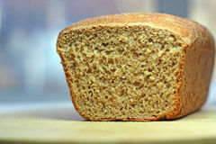 Freshly cut bread showing texture. Royalty Free Stock Images