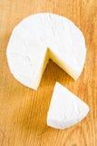 Freshly cut camembert Royalty Free Stock Images