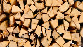 Freshly cut fire wood, closeup royalty free stock images