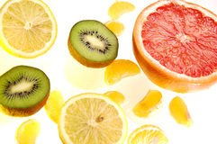 Freshly Cut Fruit  Royalty Free Stock Image